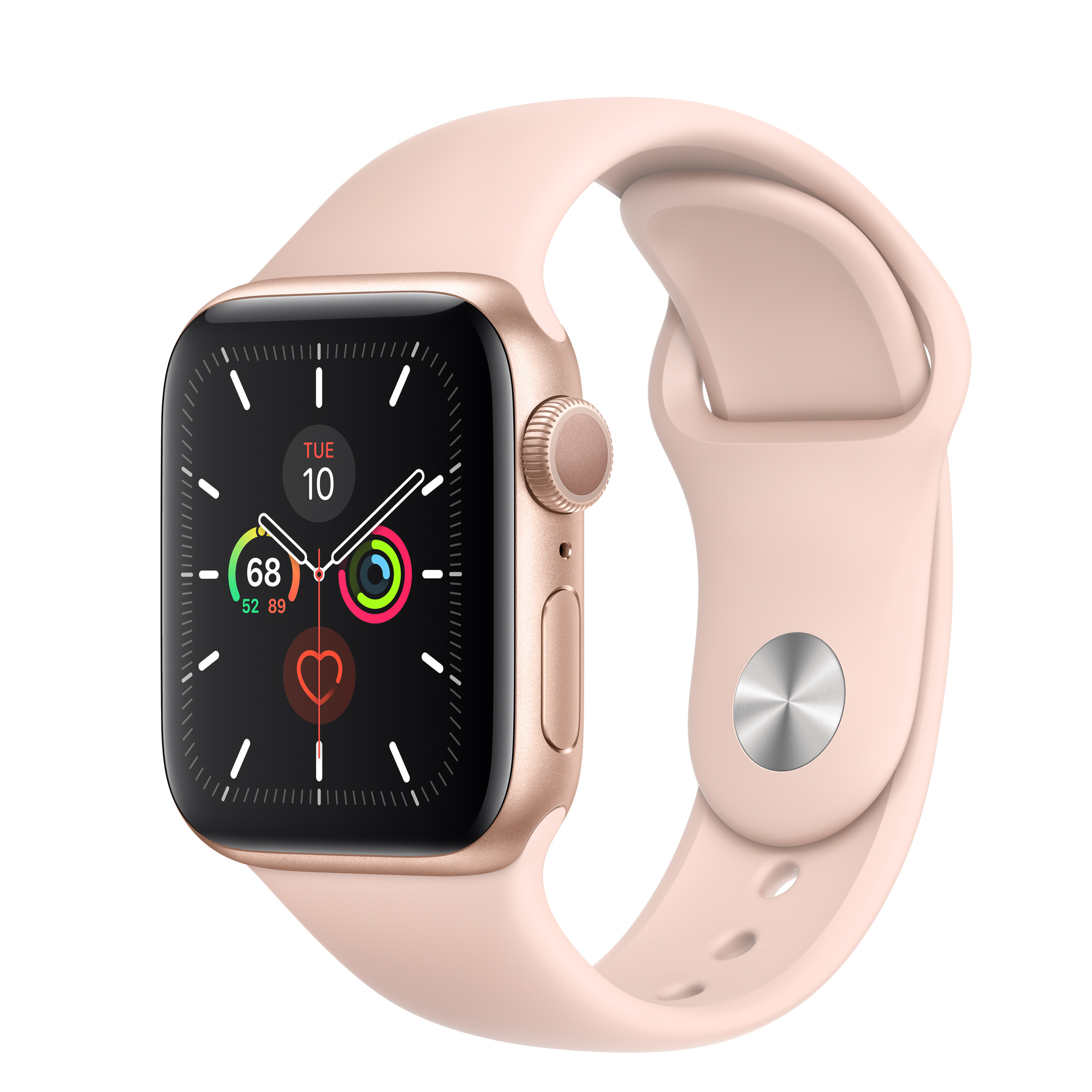 Apple Watch Series 5 GPS, 40mm Gold Aluminium Case with Pink Sand Sport  Band – Regular - Apple (IE)