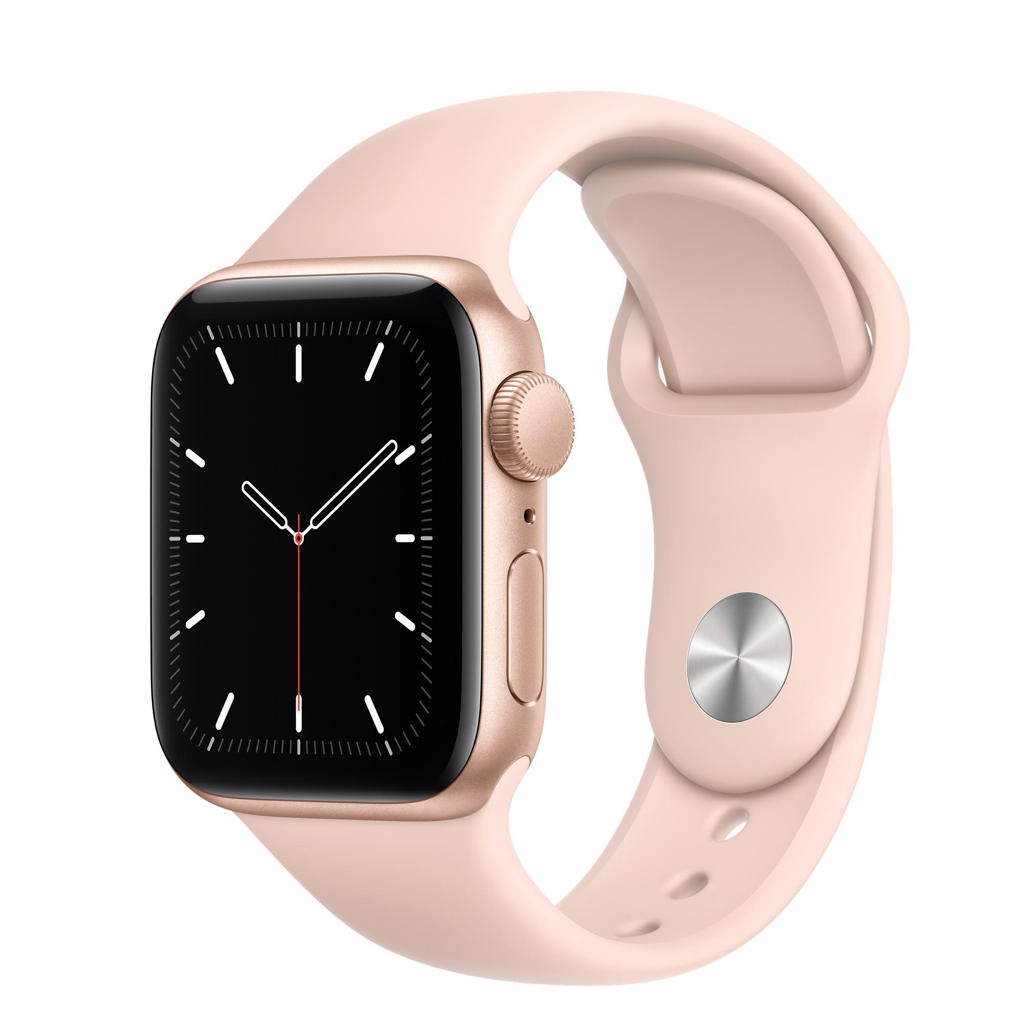 Apple Watch Se Gps 40mm Gold Aluminium Case With Pink Sand Sport Band Regular Apple Uk