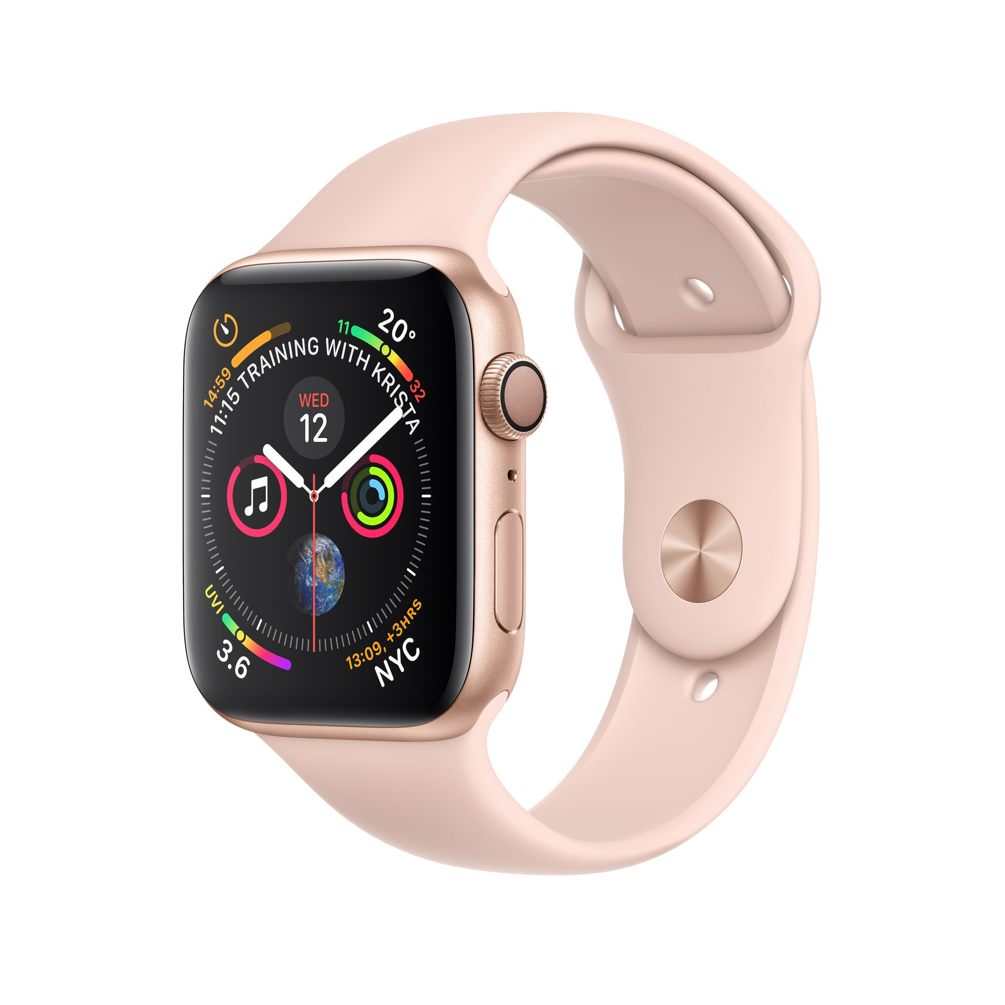 new arrival f70a2 7e45c Apple Watch Series 4 GPS, 40mm Gold Aluminium Case with Pink Sand Sport Band