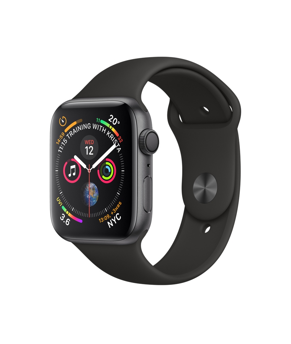 promo code cebf0 f6ca0 Apple Watch Series 4 GPS, 44mm Space Grey Aluminium Case with Black Sport  Band