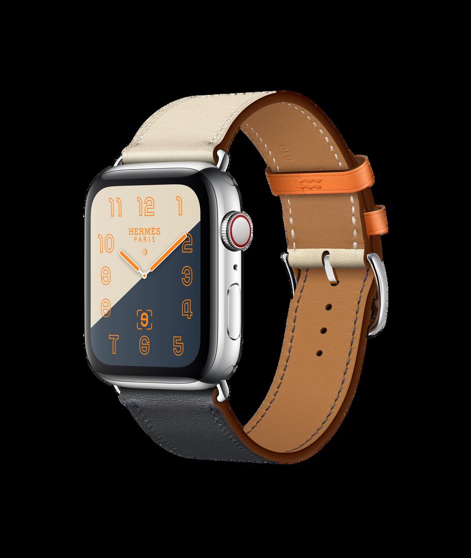 Mm Swift GpsCellular44 Bracelet Indigocraieorange Hermès Watch Tour Simple Avec Apple Cuir En WIeDH9E2Yb