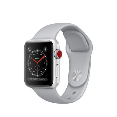 Refurbished Apple Watch Series 3 GPS + Cellular, 42mm Space Black Stainless Steel Case with Black Sport Band