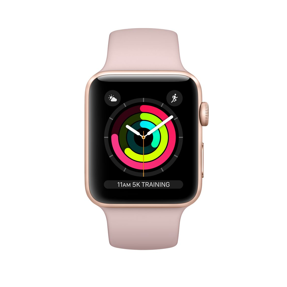 Refurbished Apple Watch Series 3 Gps 38mm Gold Aluminium Case With Pink Sand Sport Band Apple Uk