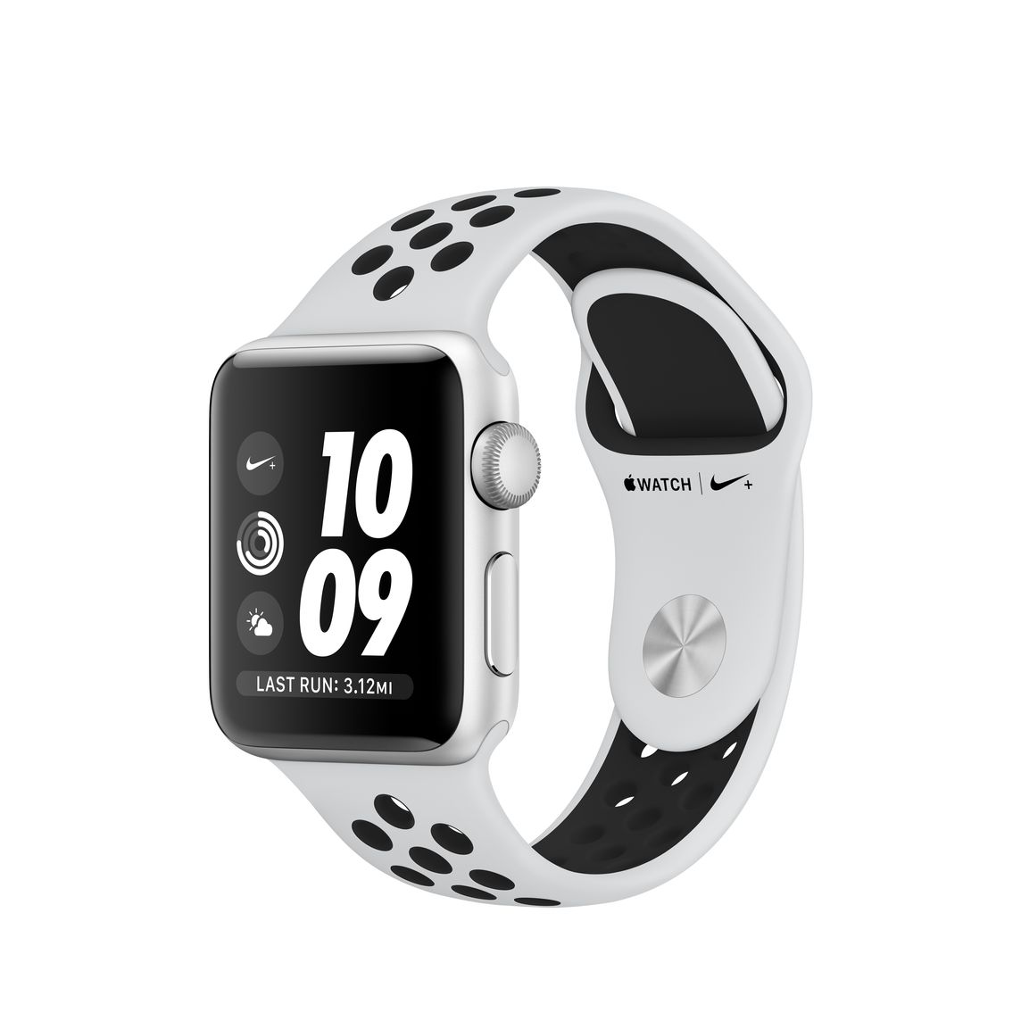 Refurbished Apple Watch Series 3 GPS, 38mm Silver Aluminium Case with Pure  Platinum/Black Nike Sport Band