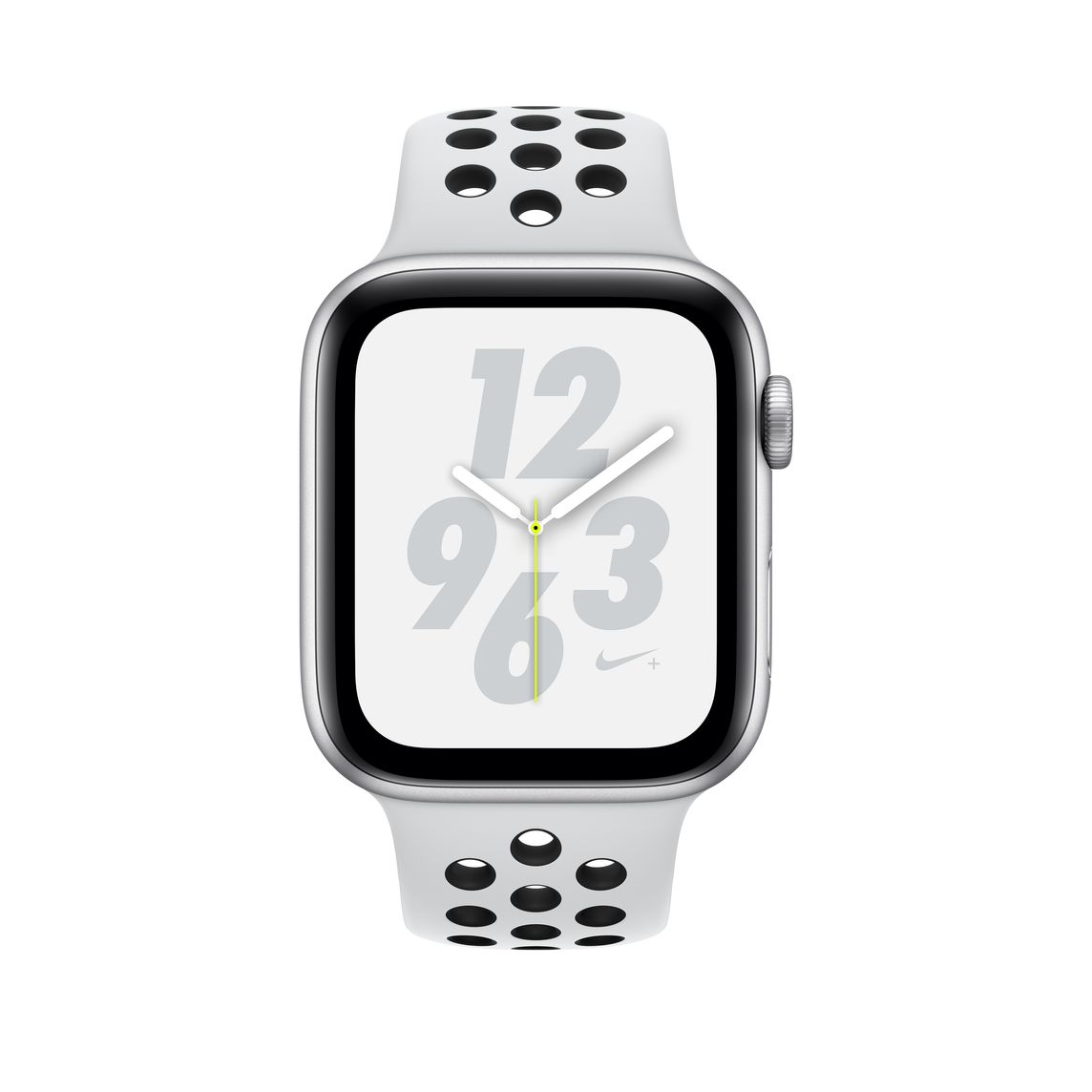 Refurbished Apple Watch Nike+ Series 4 GPS + Cellular, 40mm Silver Aluminium Case with Pure PlatinumBlack Nike Sport Band