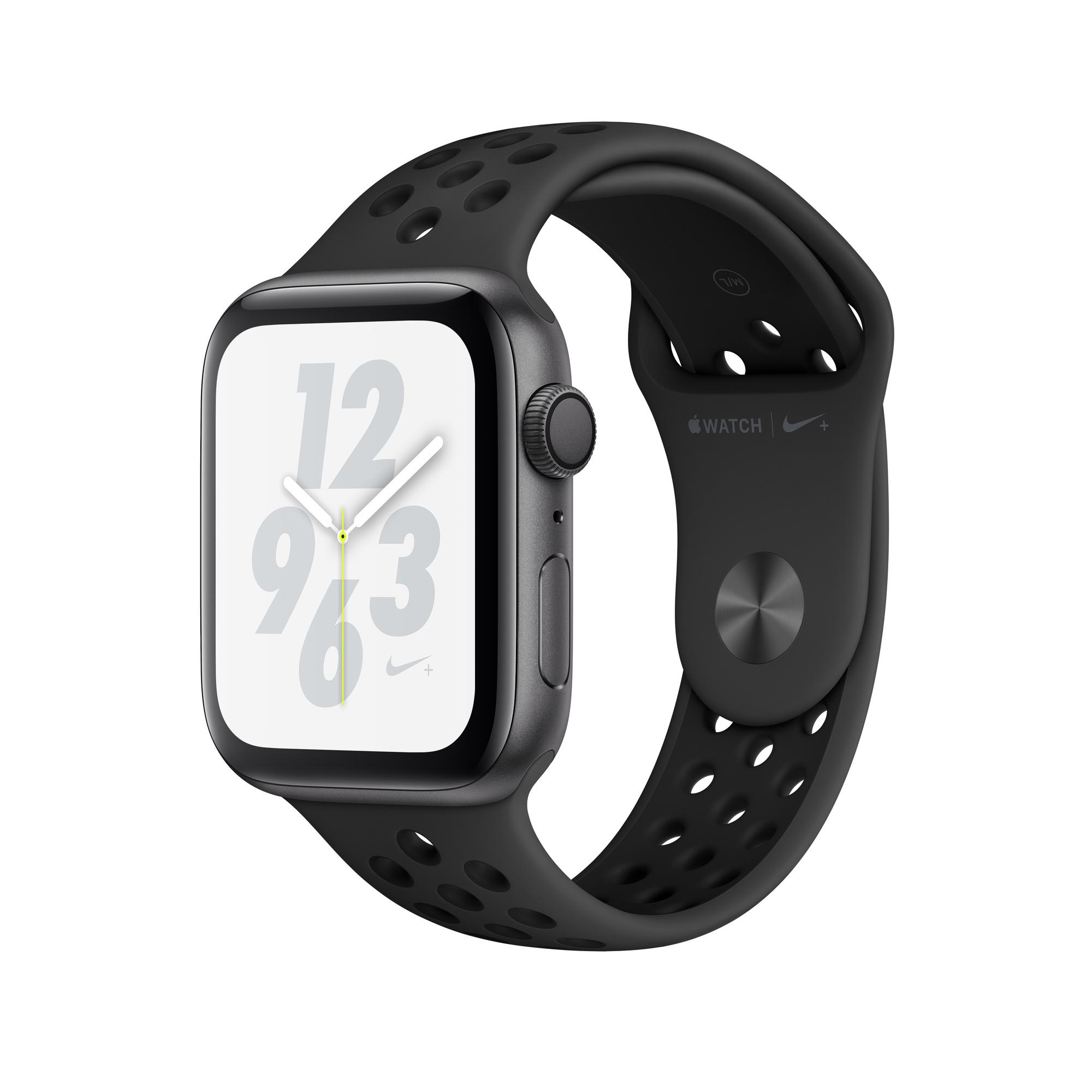 Pompeya Conductividad caldera  Refurbished Apple Watch Nike+ Series 4 GPS, 44mm Space Grey Aluminium Case  with Anthracite/Black Nike Sport Band - Apple (UK)