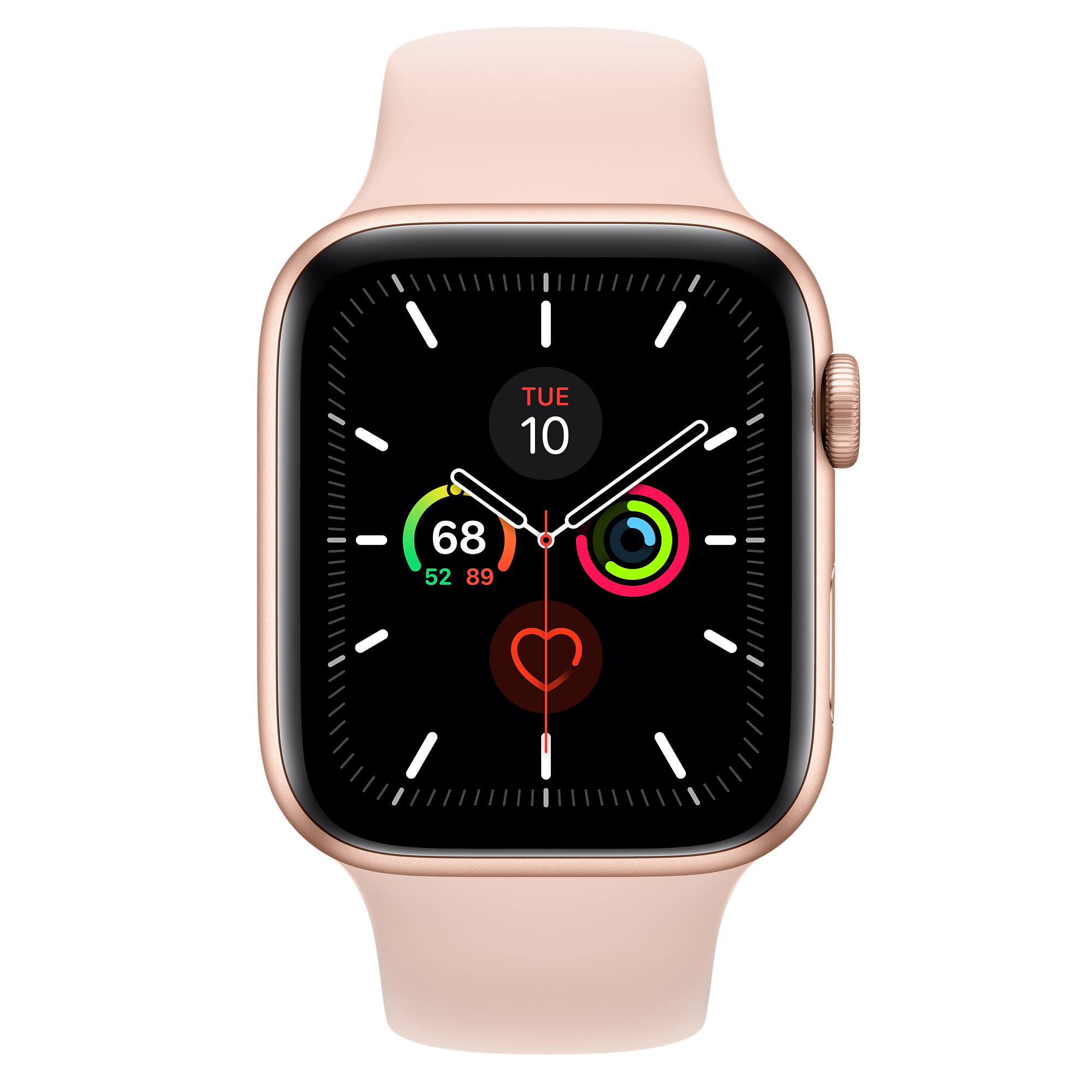 Refurbished Apple Watch Series 5 Gps Cellular 44mm Gold Aluminium Case With Pink Sand Sport Band Apple Uk