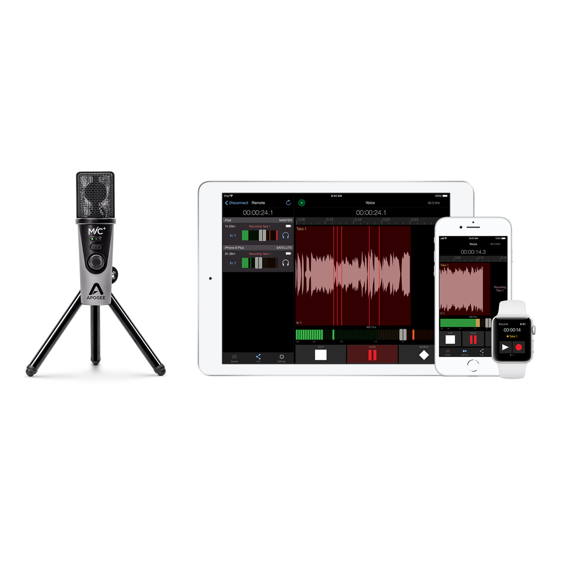 Apogee MiC Plus USB mikrofon Apple (NO)
