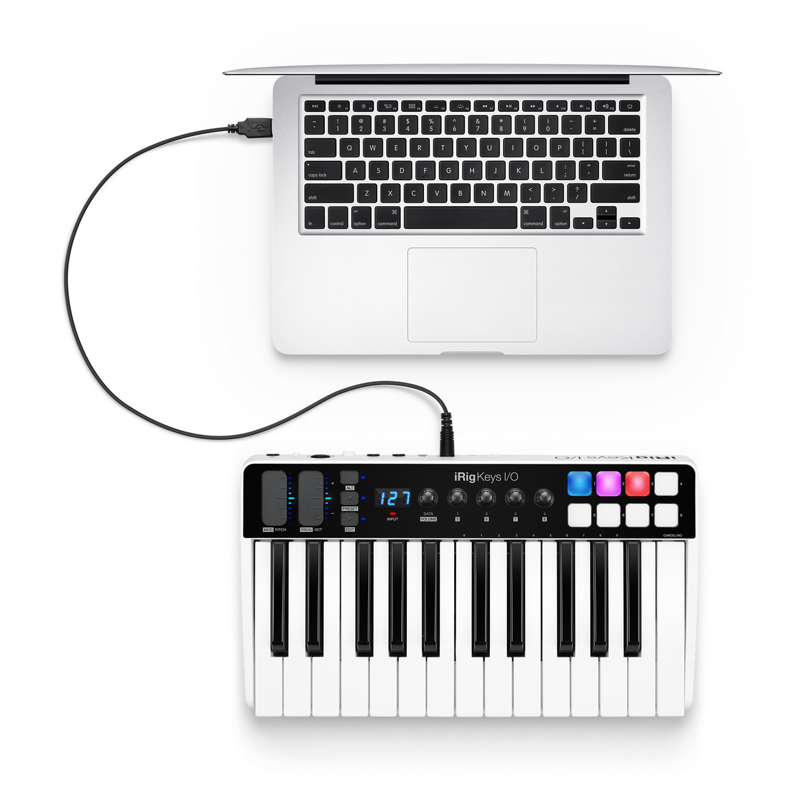 IK Multimedia's iRig Keys IO MIDI 25 Clavier MIDI