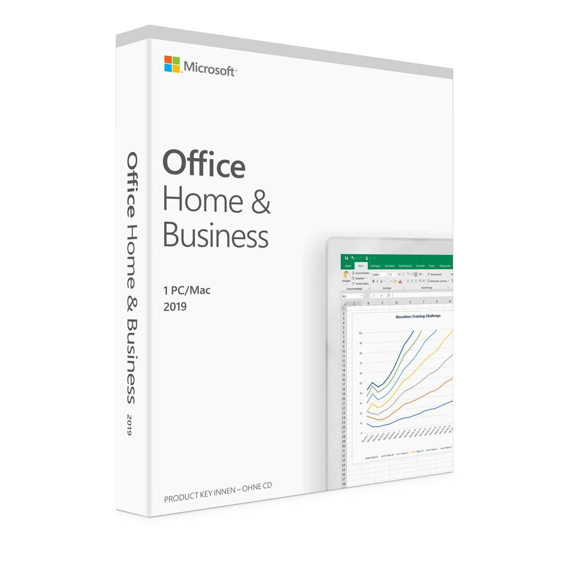 Afholte Microsoft Office Home and Business 2019 (1 Mac) - Apple (DE) WC-84