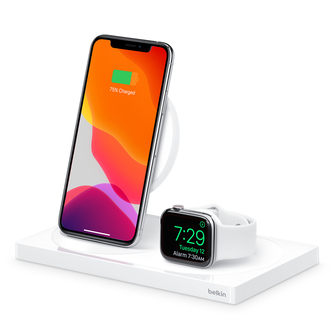 Belkin Trådlös Laddare iPhone Apple Watch 1x USB A Vit