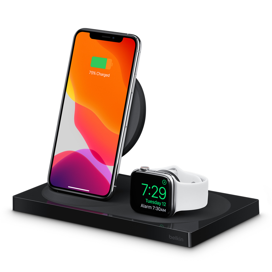 Carga De Base Iphone Apple Belkin Para Up Y Watch Boost El Inalámbrica jL35AR4