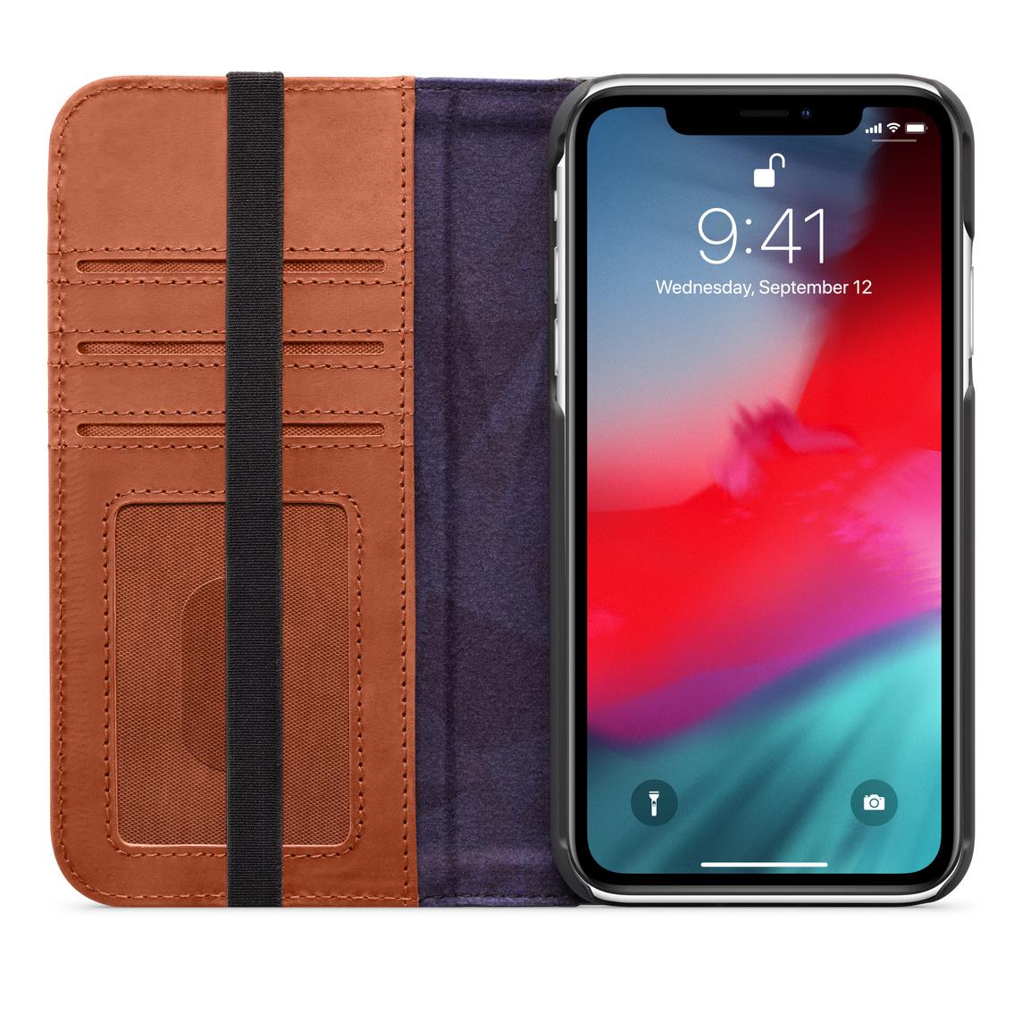 coque iphone xr apple marron
