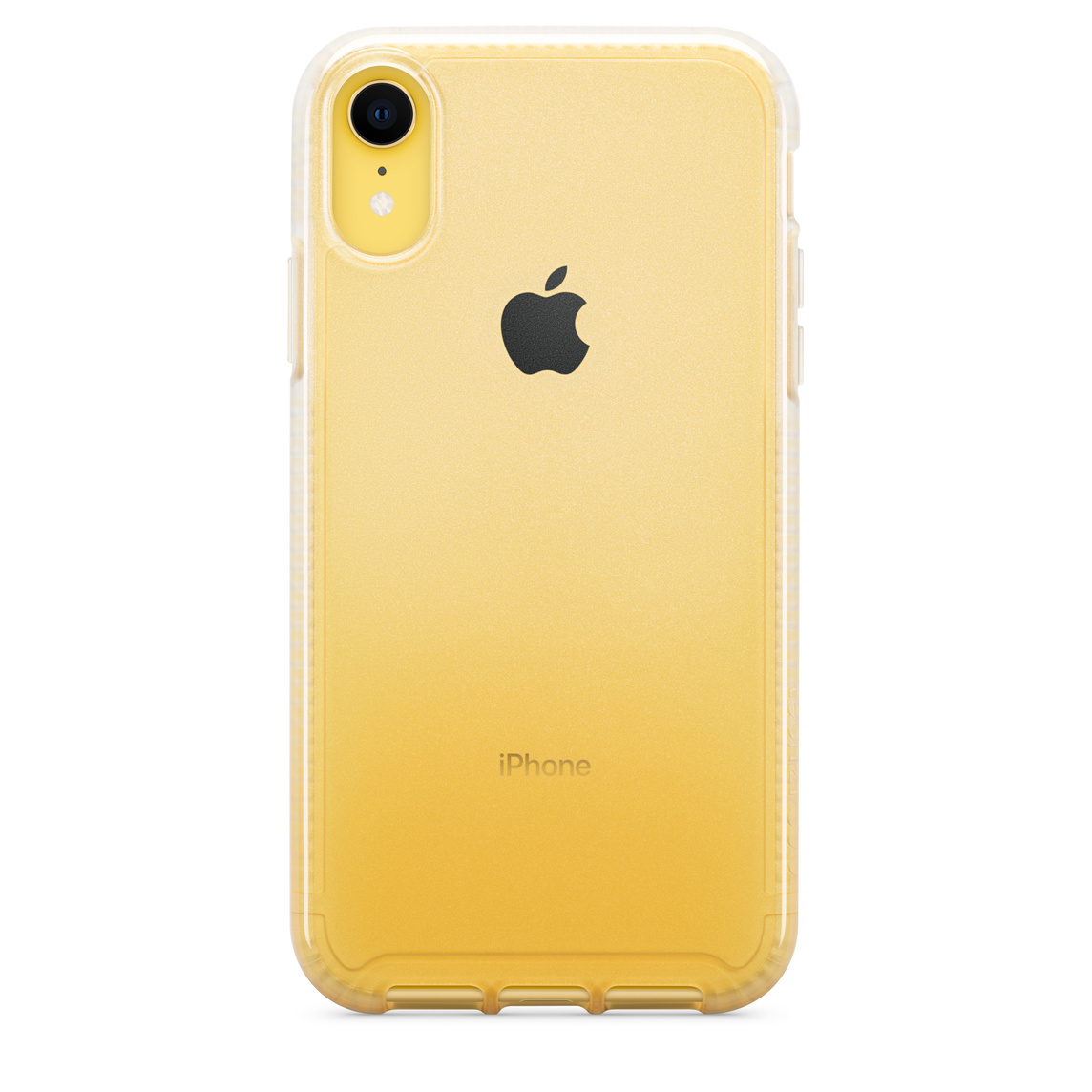 coque iphone xr transparente jaune