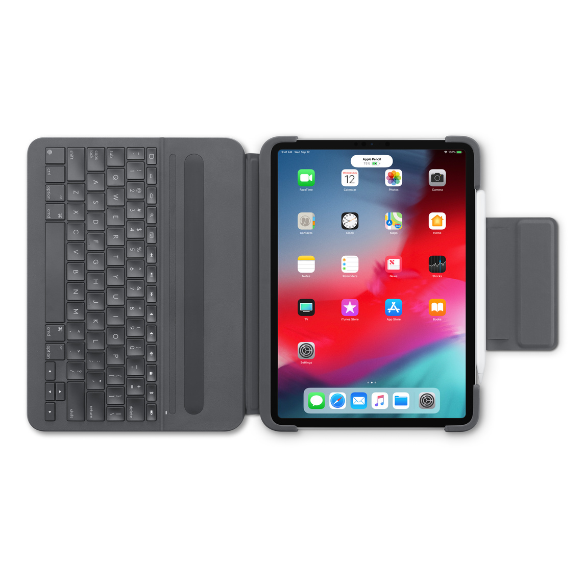 new concept 8d8b8 f8afa Logitech Slim Folio Pro Case with Integrated Bluetooth Keyboard for 11