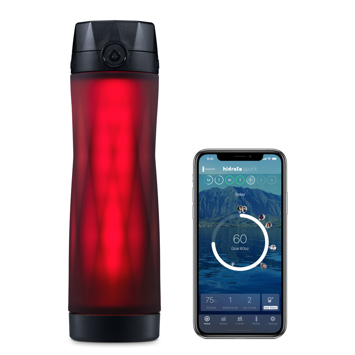 Botella de agua inteligente Hidrate Spark 3 - Negro - Apple (ES)