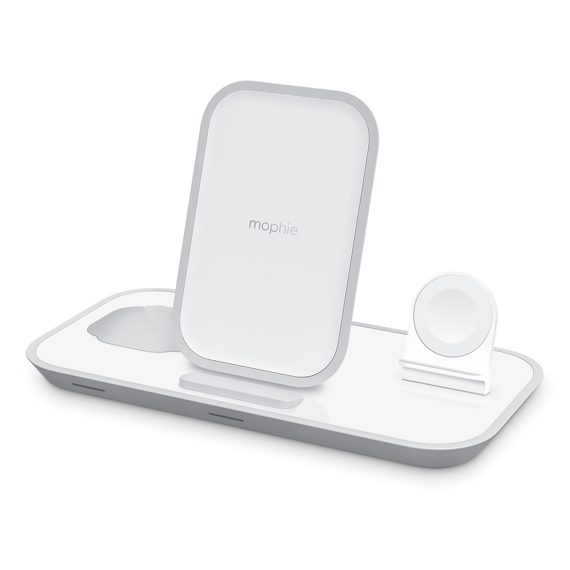 Mophie 3 In 1 Wireless Charging Stand White Apple Uk The charge pad is optimized for apple and samsung fast charge. mophie 3 in 1 wireless charging stand