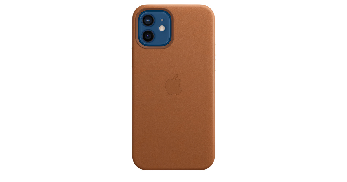 Custodia MagSafe in pelle per iPhone 12 / 12 Pro - Cuoio