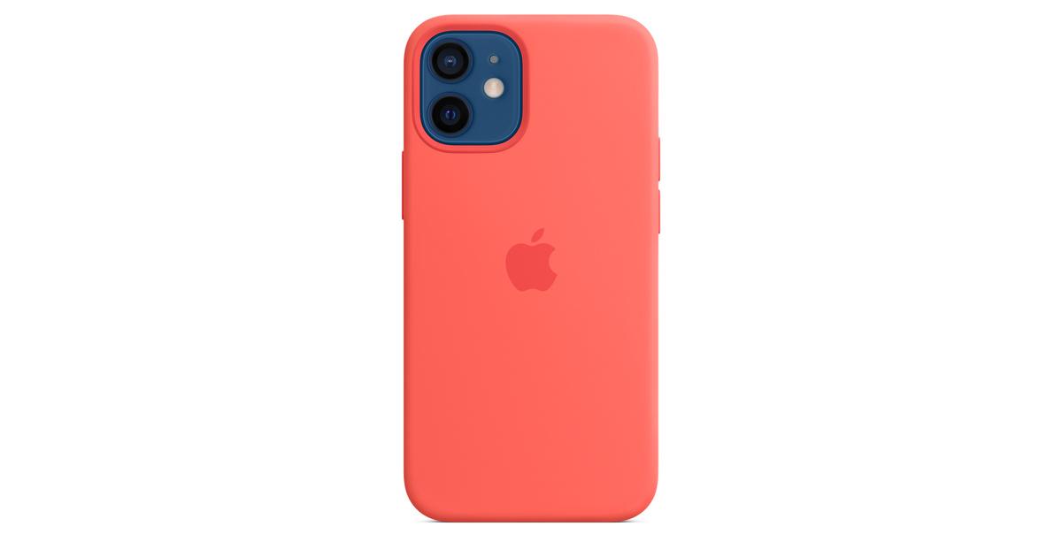 Custodia MagSafe in silicone per iPhone 12 mini - Rosarancio