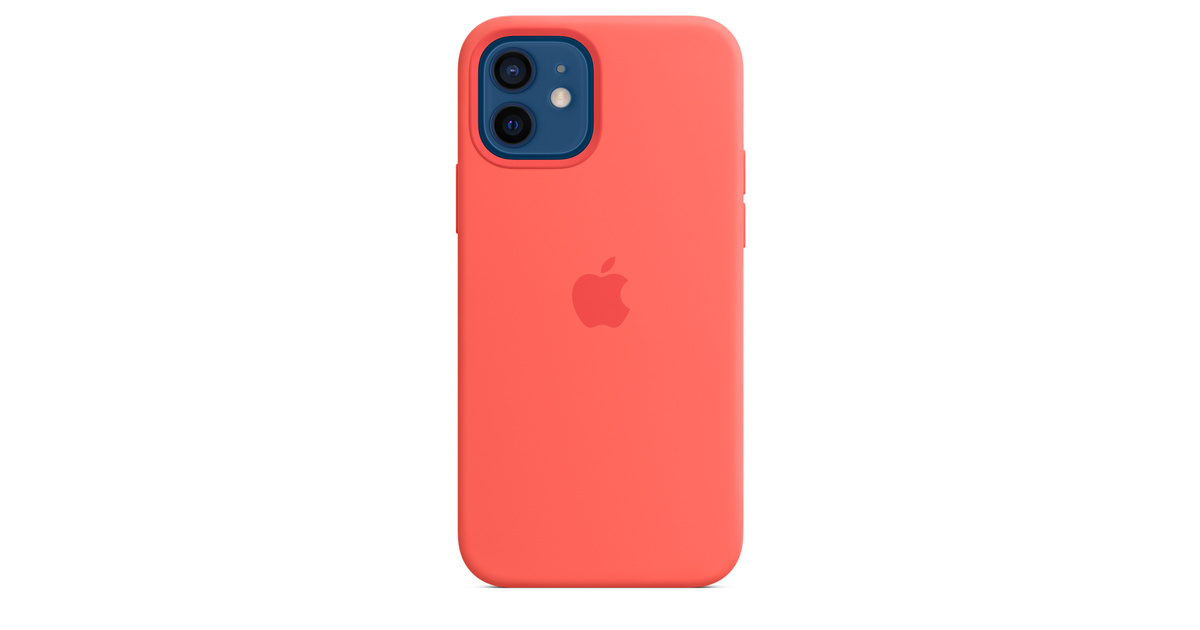 iPhone 12   12 Pro Silicone Case with MagSafe - Pink ...