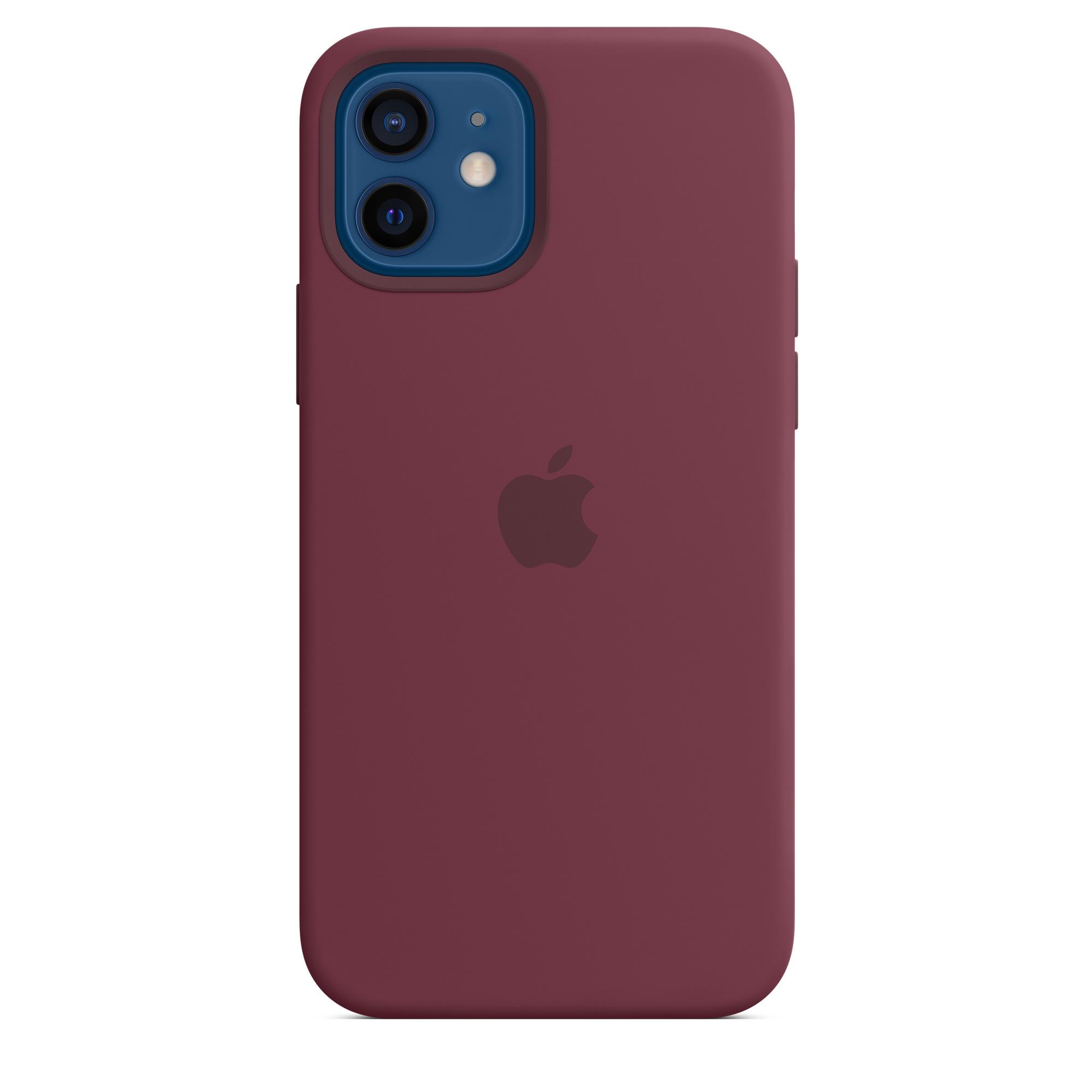 iPhone 12 | 12 Pro SilikonCase mit MagSafe- Pflaume