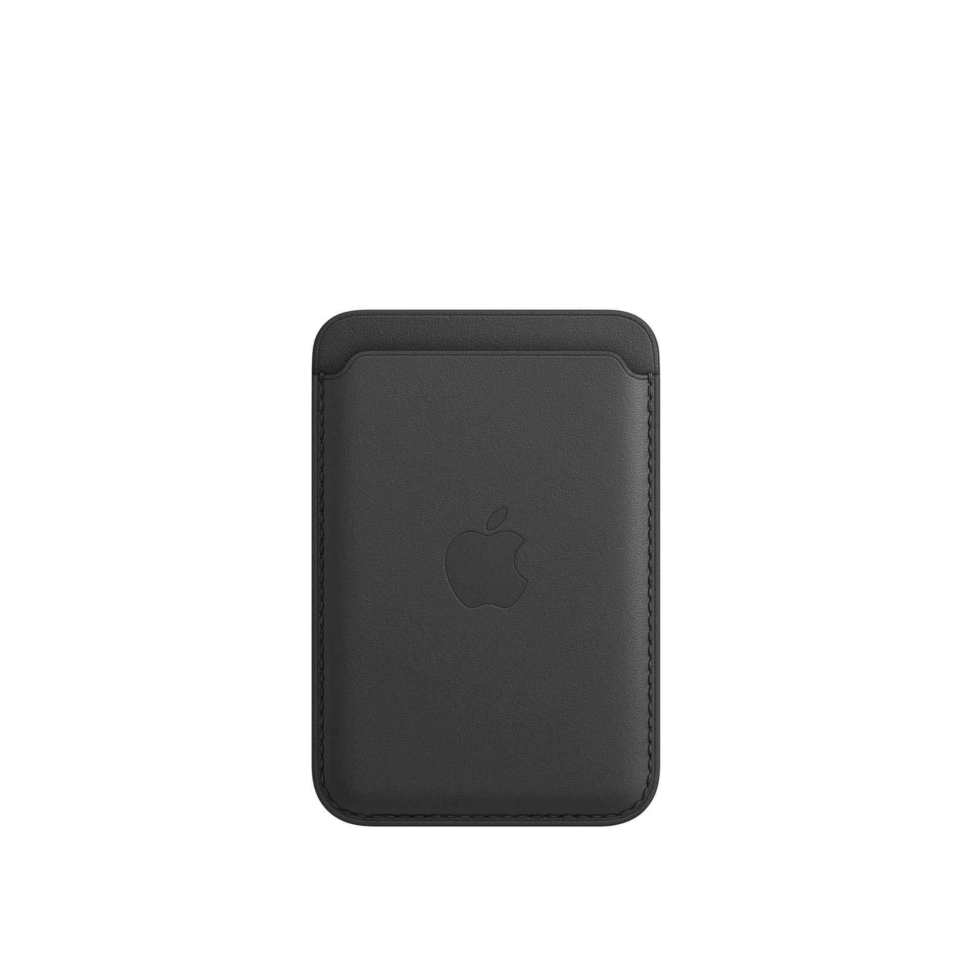 Leren kaarthouder met MagSafe voor iPhone- Zwart