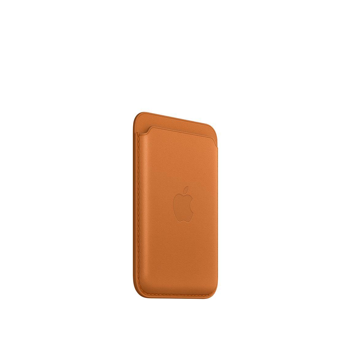 iPhone Leder Wallet mit MagSafe - Goldbraun
