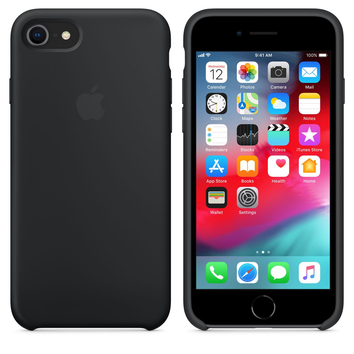 buy online 491a3 cdc66 iPhone 8 / 7 Silicone Case - Black