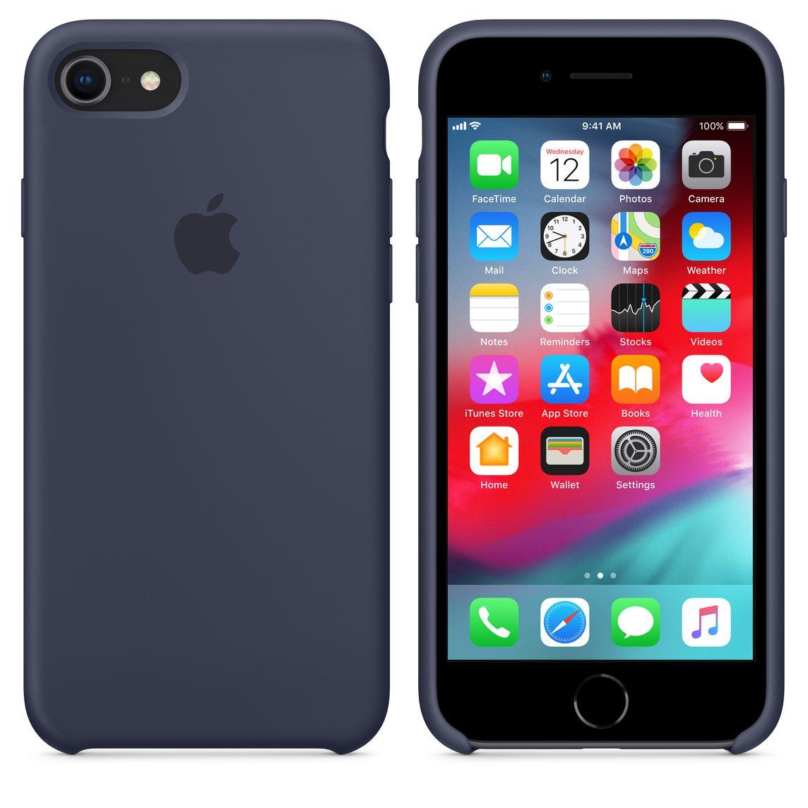 custodia in silicone per iphone 7 - blu oceano