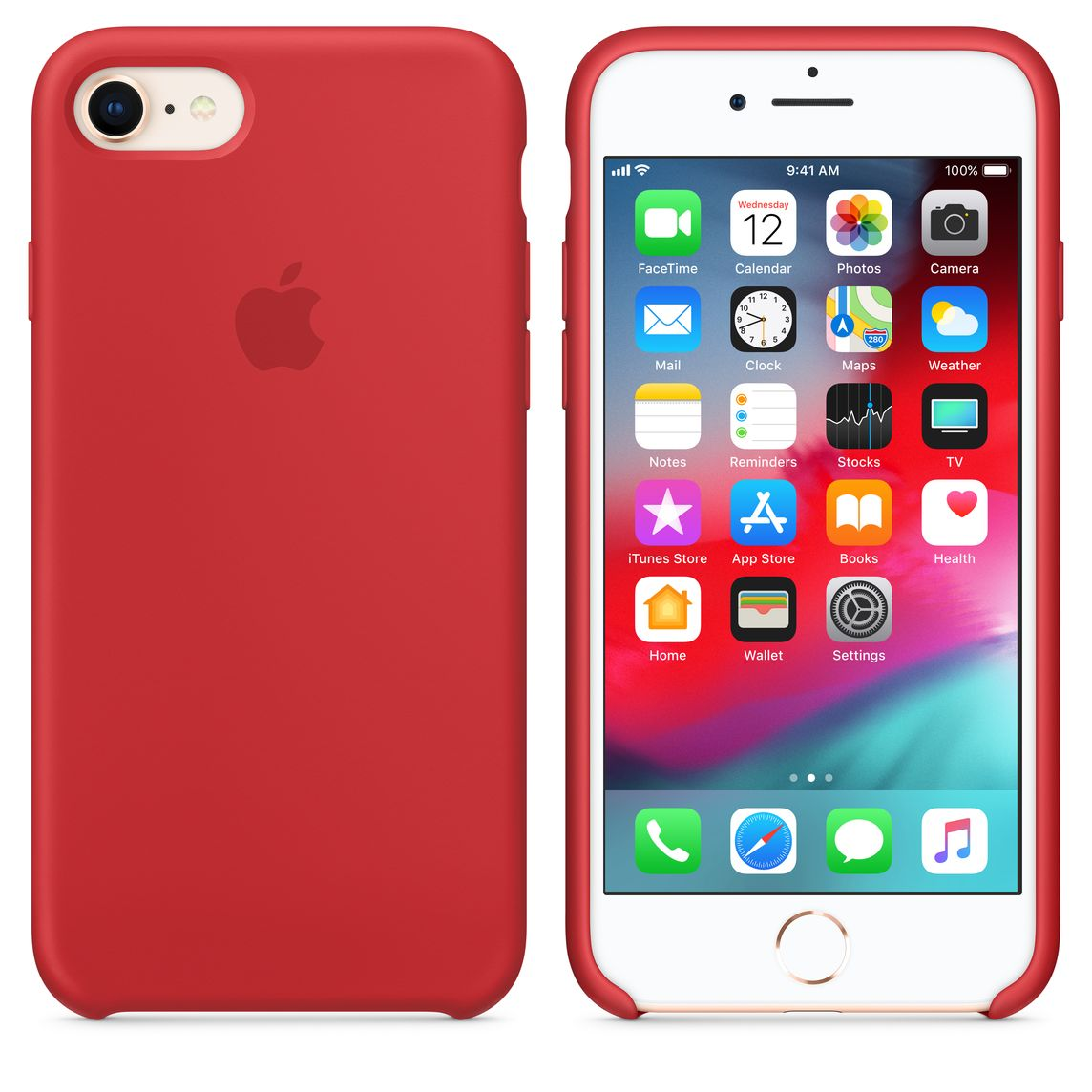 e34d13d192ee3 Coque en silicone pour iPhone 8 / 7 - (PRODUCT)RED - Apple (FR)