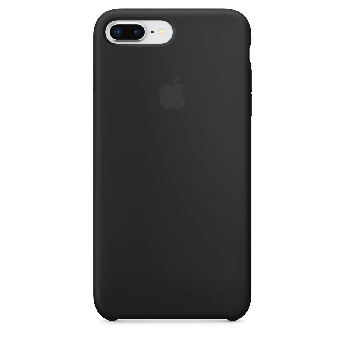 iPhone 8 Plus 7 Plus Silikon Case – Schwarz