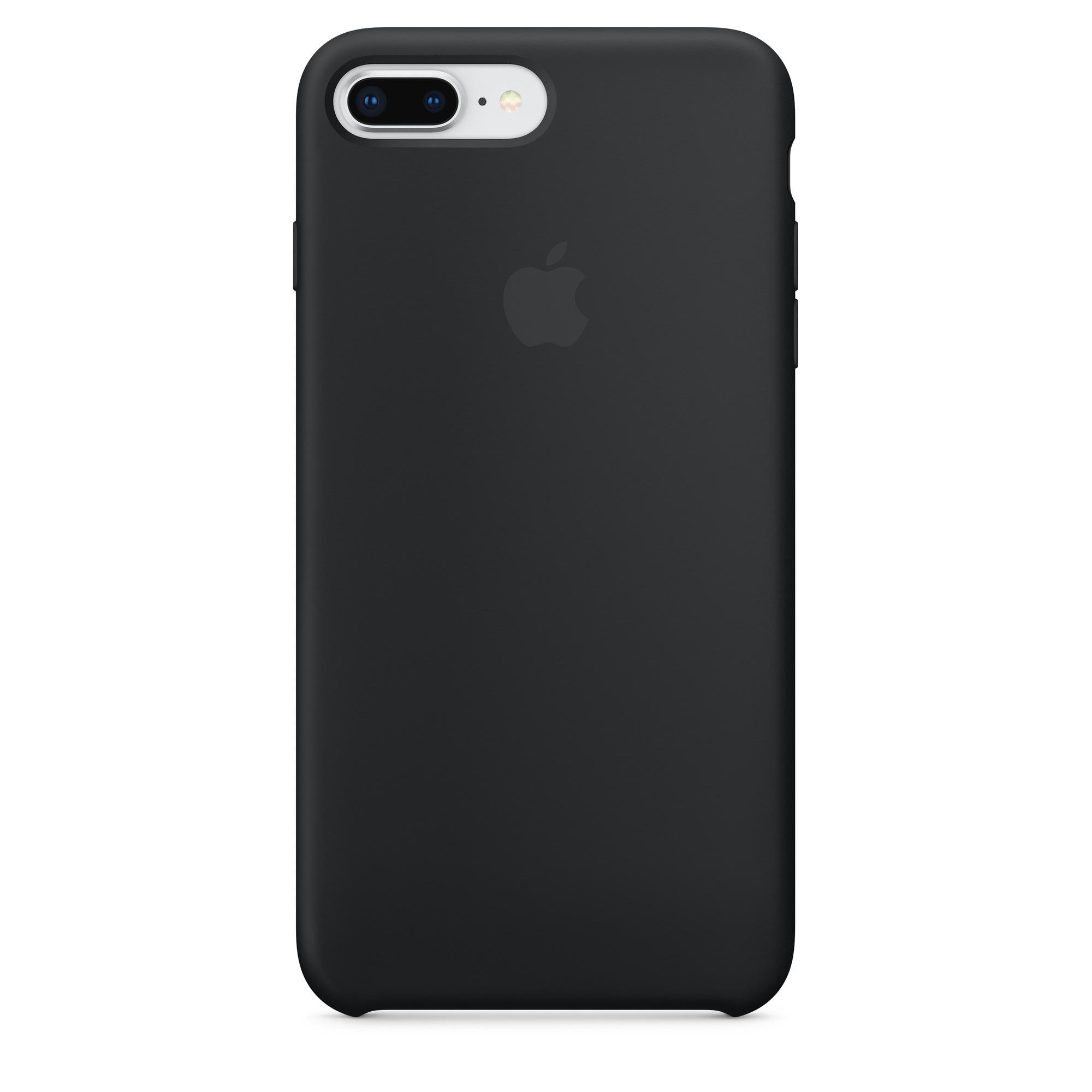 Custodia in silicone per iPhone 8 Plus / 7 Plus - Nero