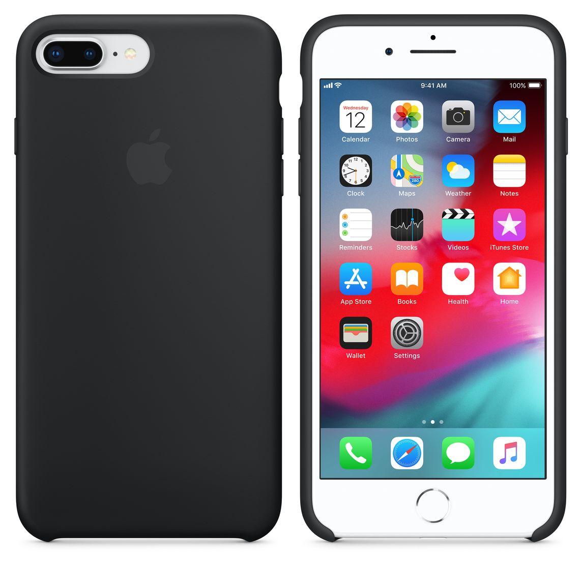 Silikondeksel til iPhone 8 Plus 7 Plus – hvit Apple (NO)