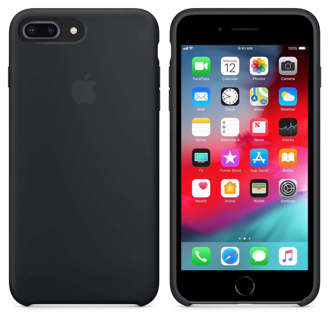 new product ffbde 9f886 iPhone 8 Plus / 7 Plus Silicone Case - Black
