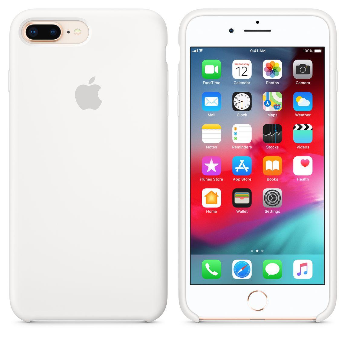 check-out 0c920 ed8ac Custodia in silicone per iPhone 8 Plus / 7 Plus - Bianco