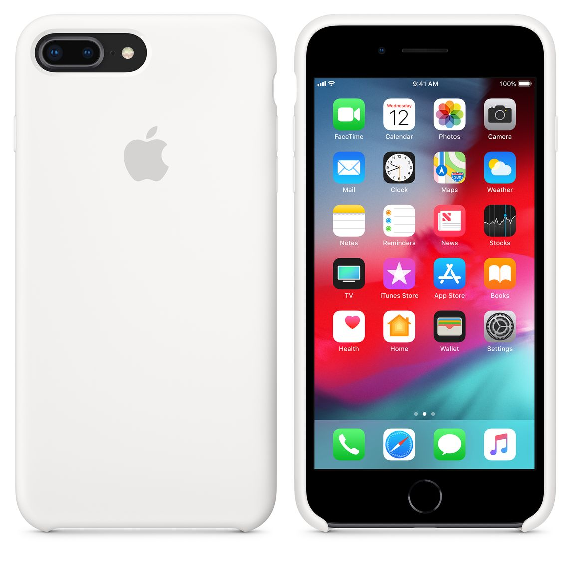 new products 6aef2 98702 iPhone 8 Plus / 7 Plus Silicone Case - White