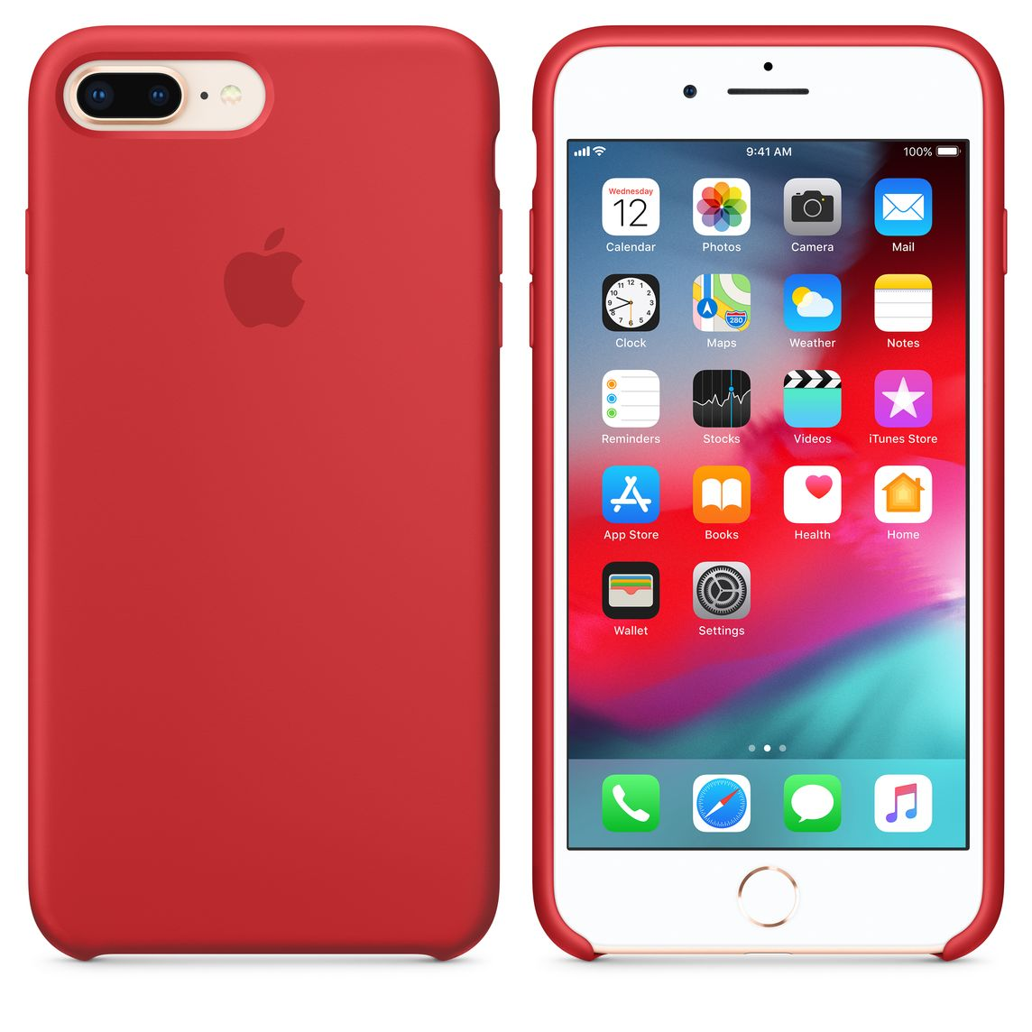 iPhone 8 Plus 7 Plus Silikon Case – (PRODUCT)RED