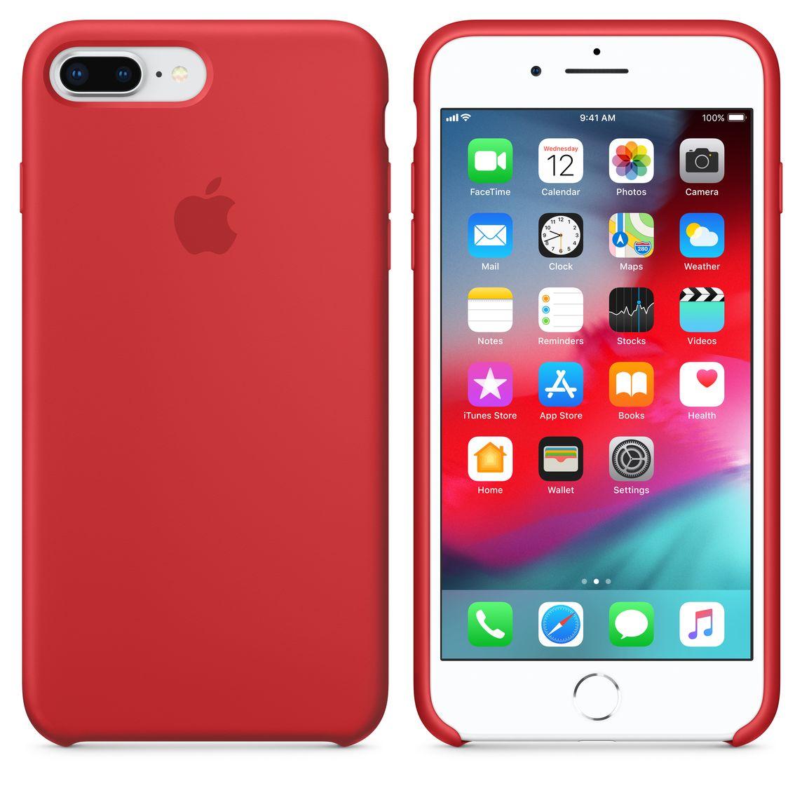 Custodia in silicone per iPhone 8 Plus / 7 Plus - (PRODUCT)RED