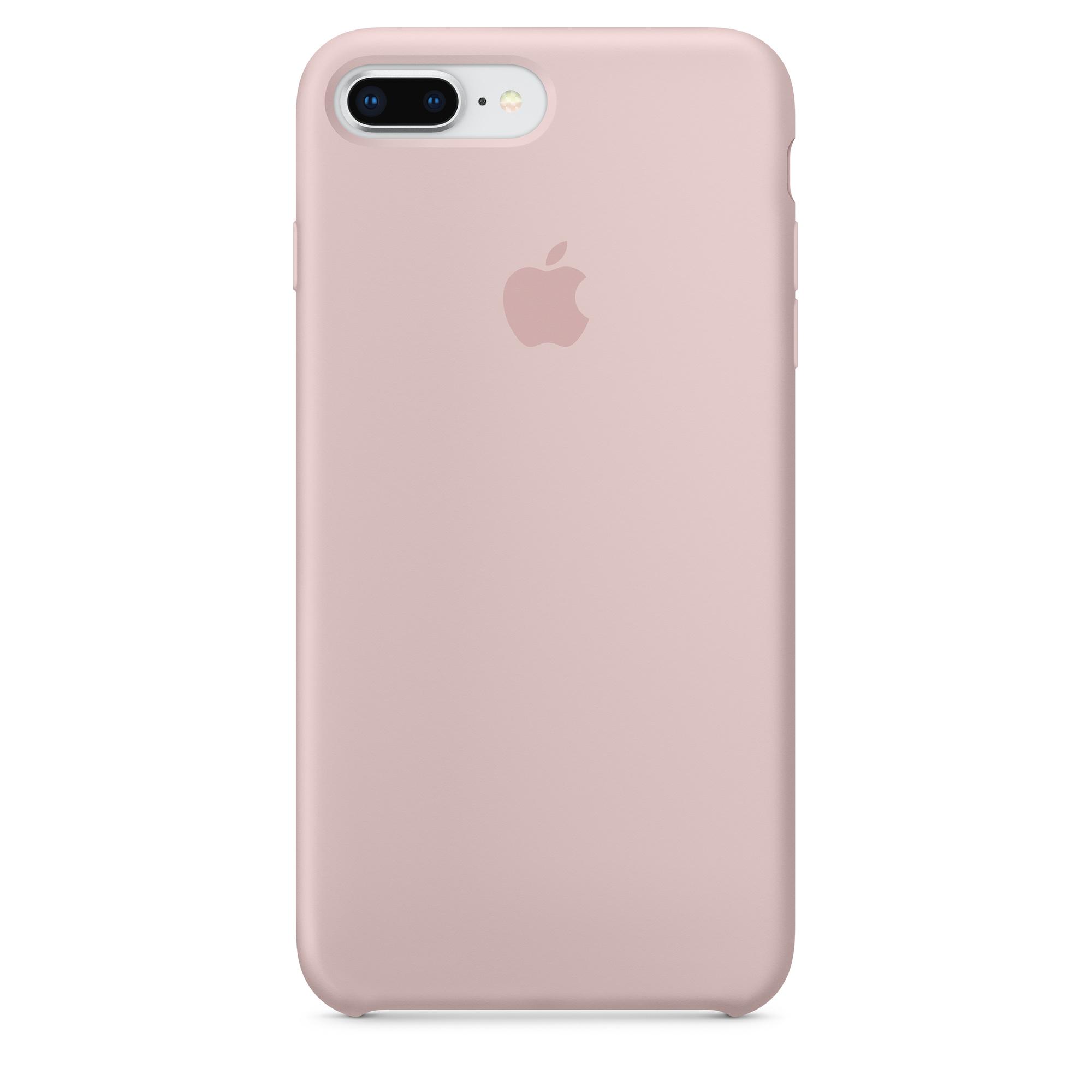Custodia in silicone per iPhone 8 Plus / 7 Plus - Rosa sabbia