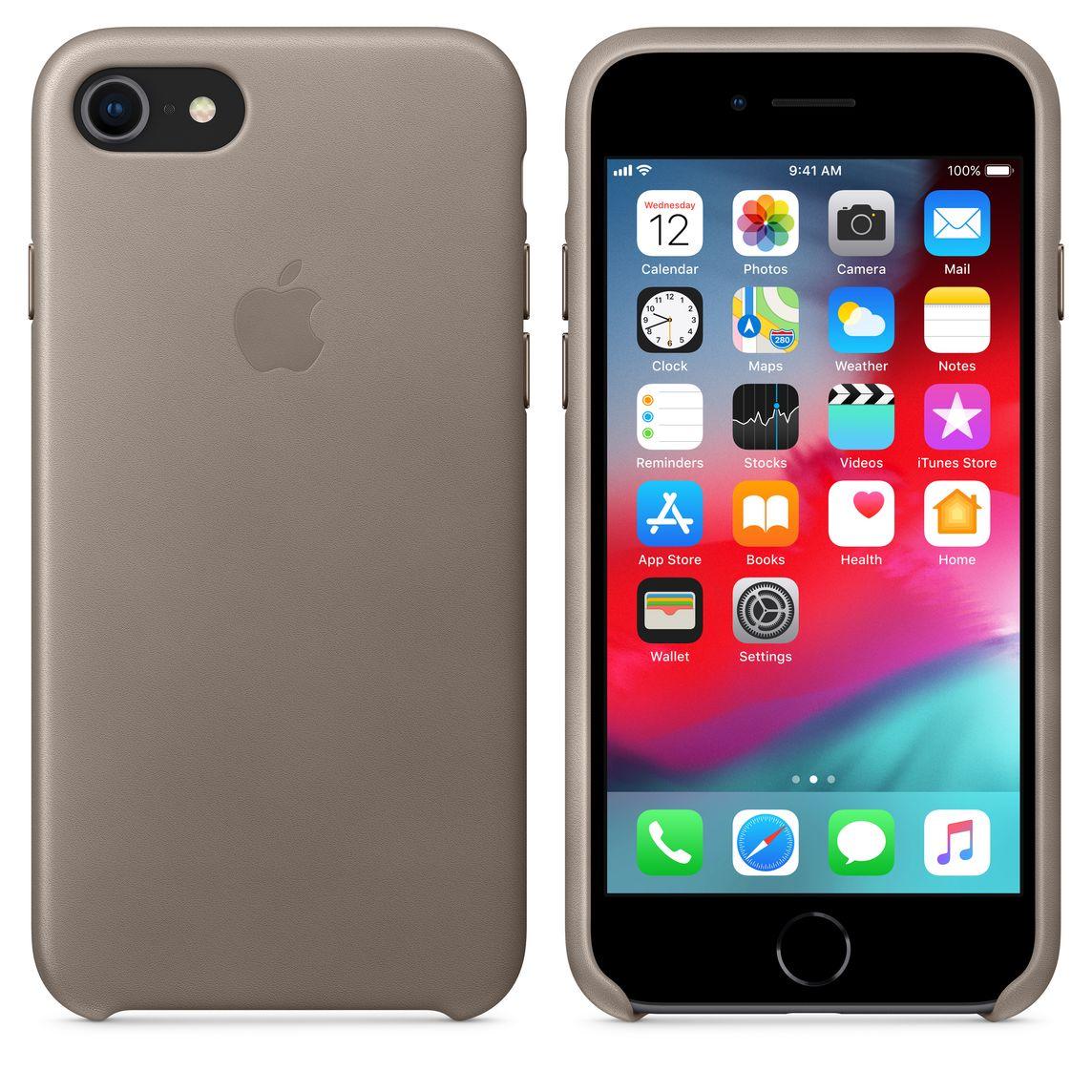 coque iphone 8 apple taupe
