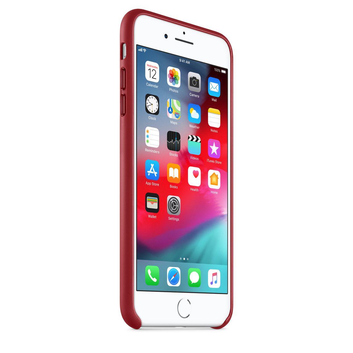 Funda Apple Leather Case Rojo para iPhone 7 Plus/8 Plus - Funda