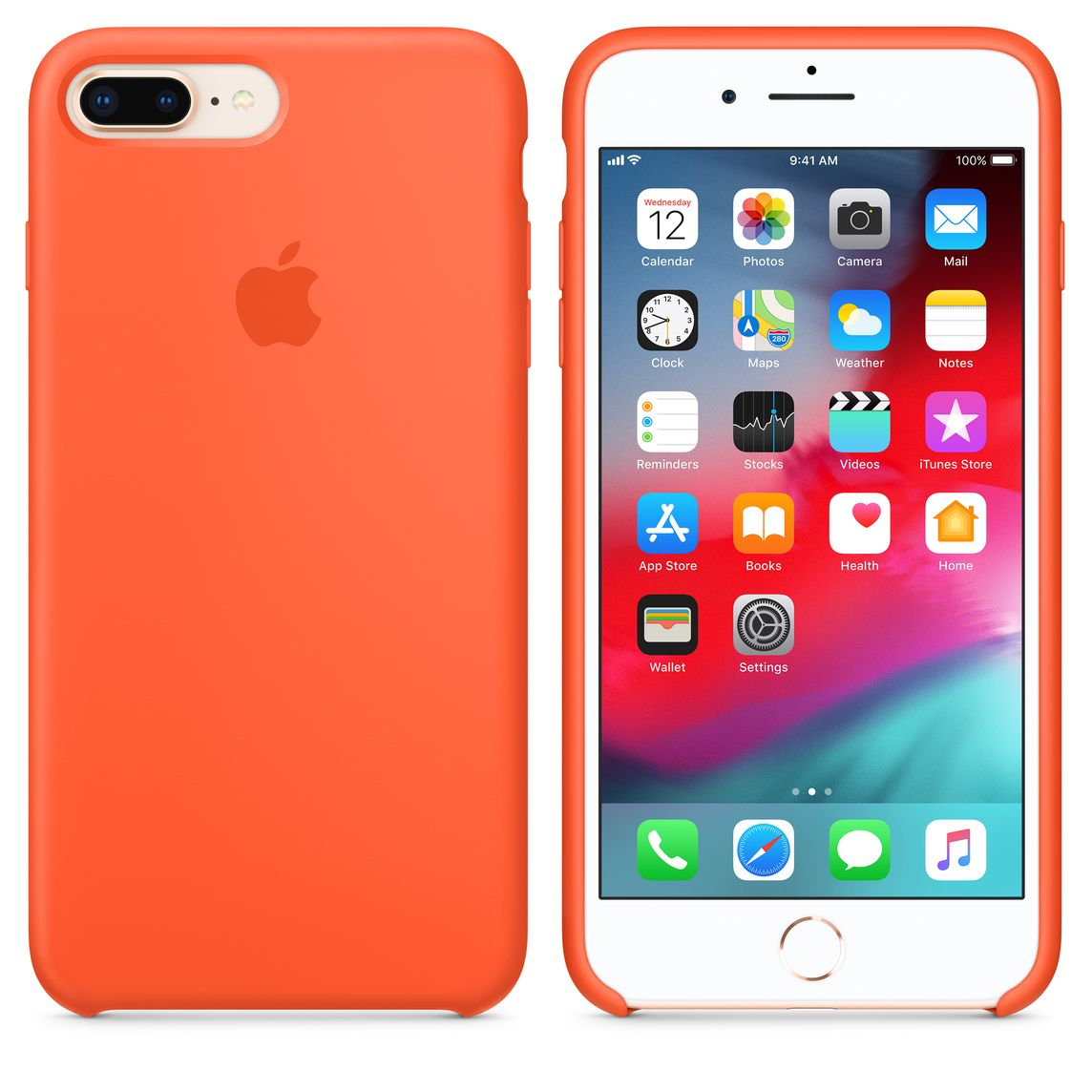 coque apple iphone 8 orange