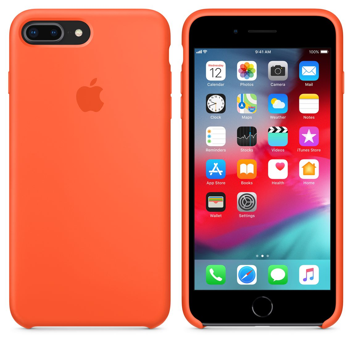 coque apple iphone 8 plus orange
