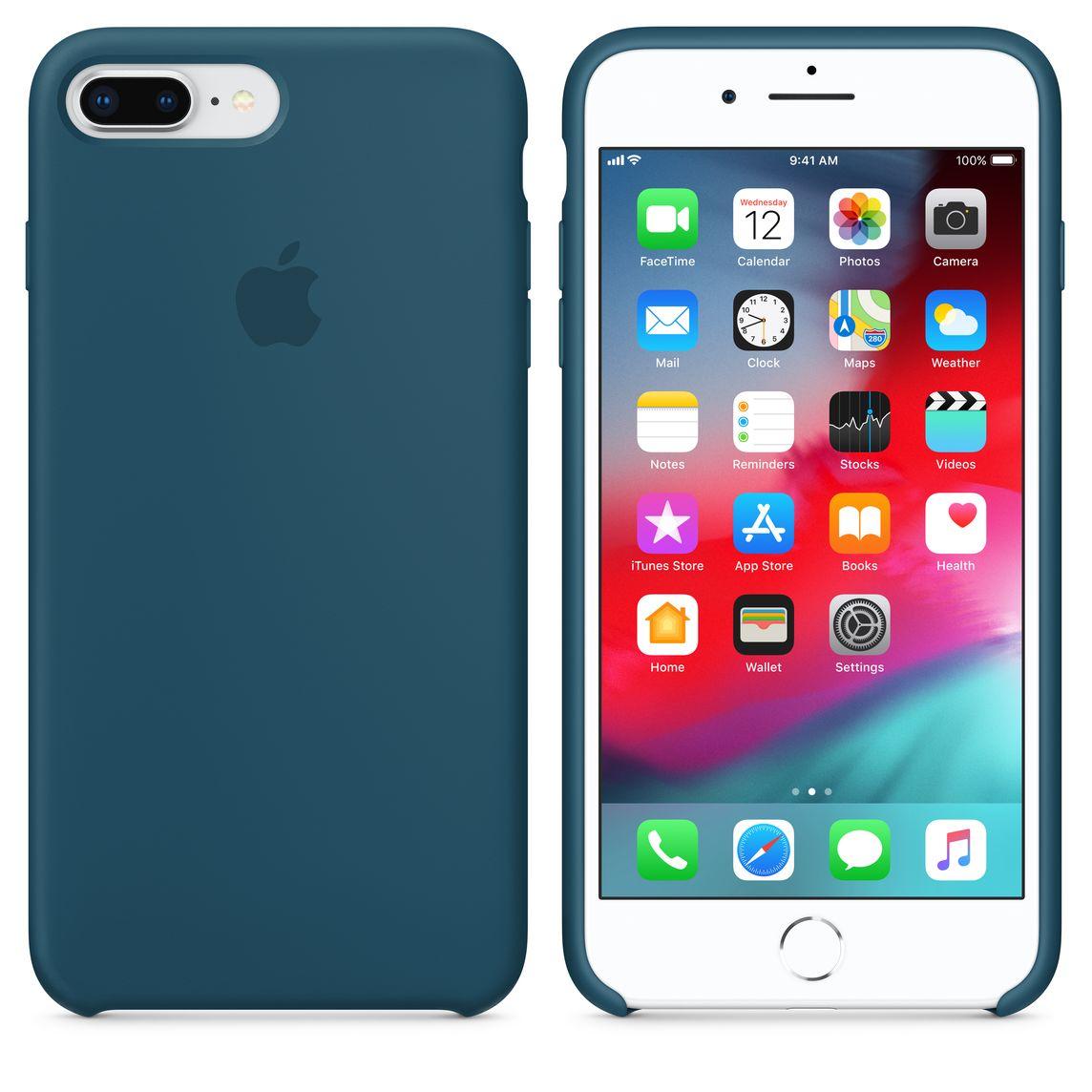 custodia in pelle per iphone x - blu elettrico