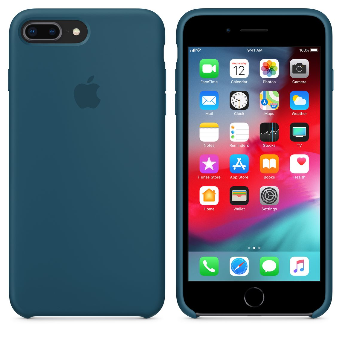 coque apple iphone 8 plus bleu cosmos