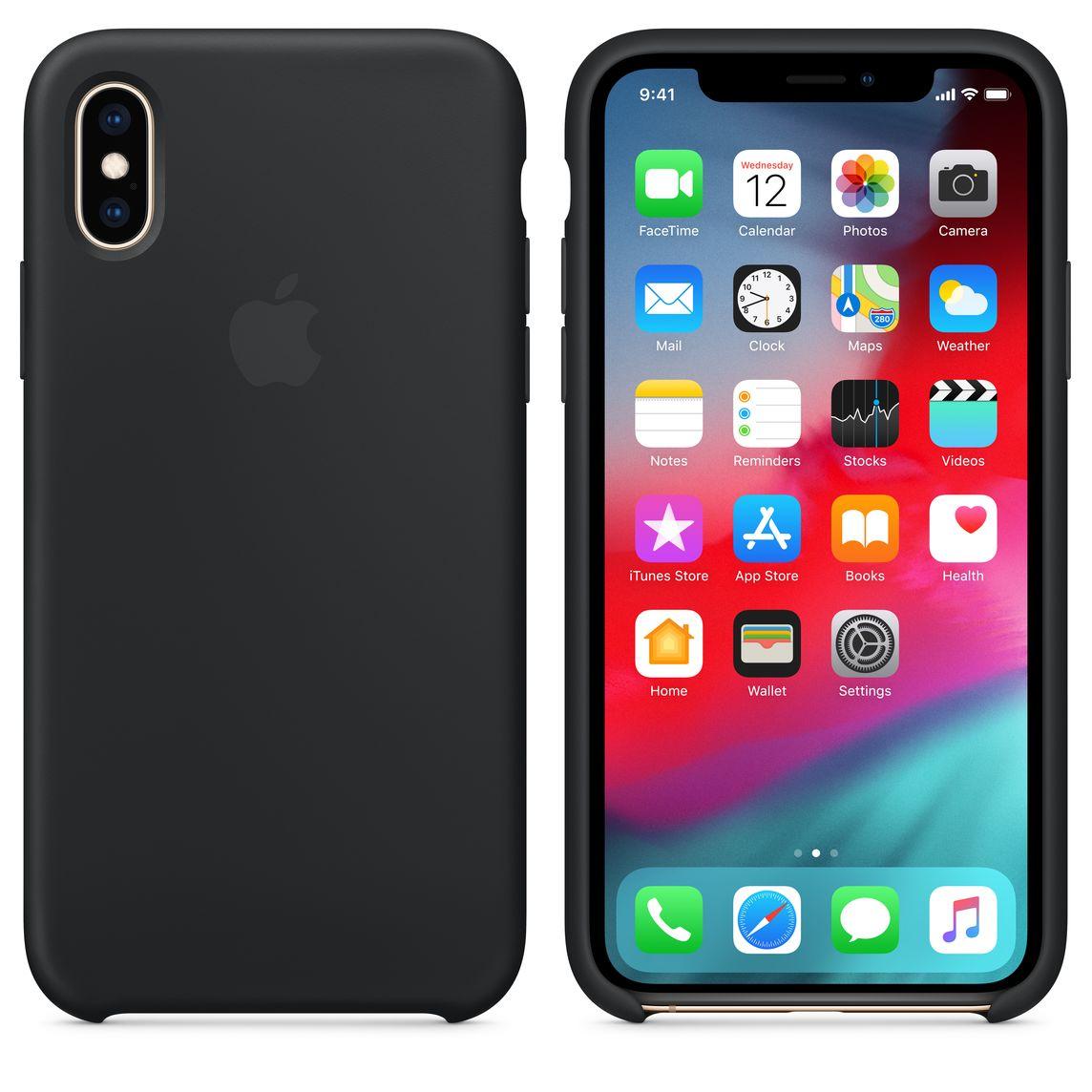 Comprar funda de silicona para iPhone 7 negra transparente