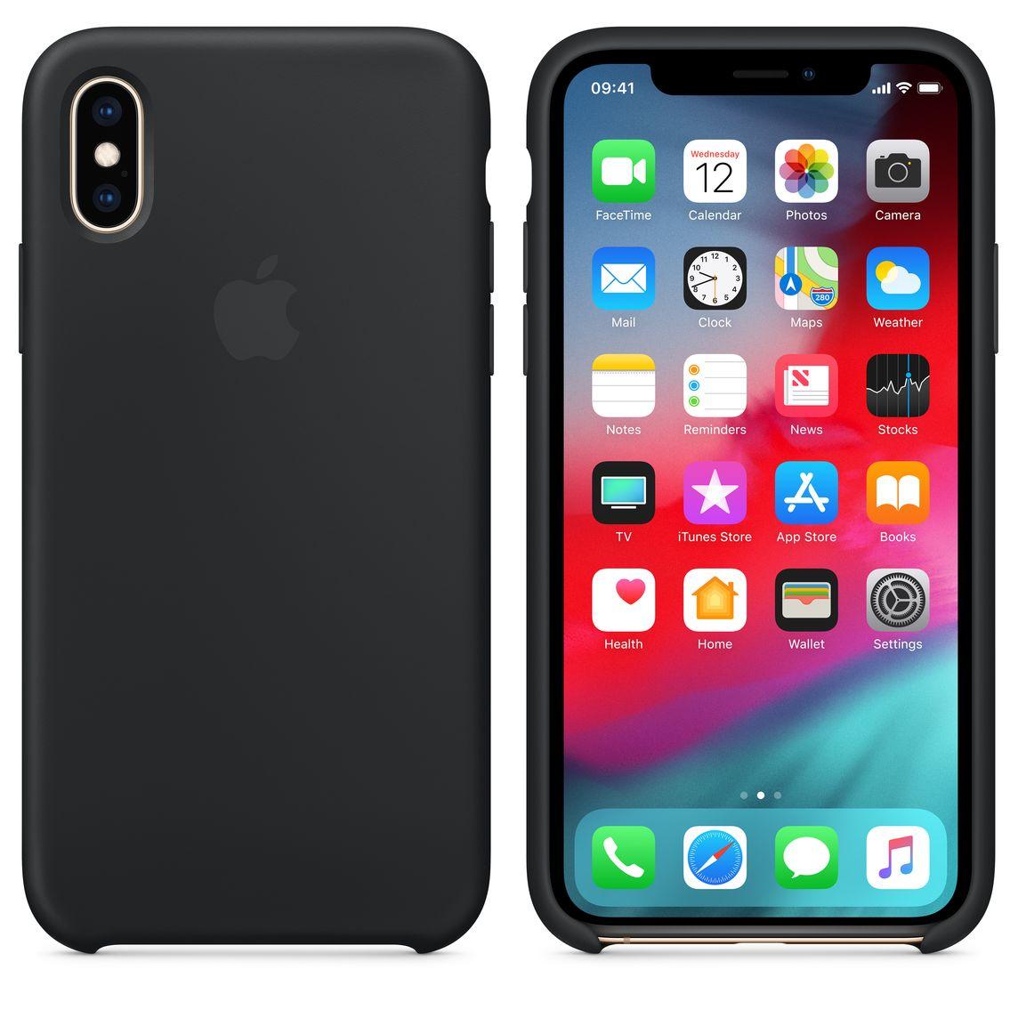 lowest price 86e17 e77ec iPhone XS Silicone Case - Black