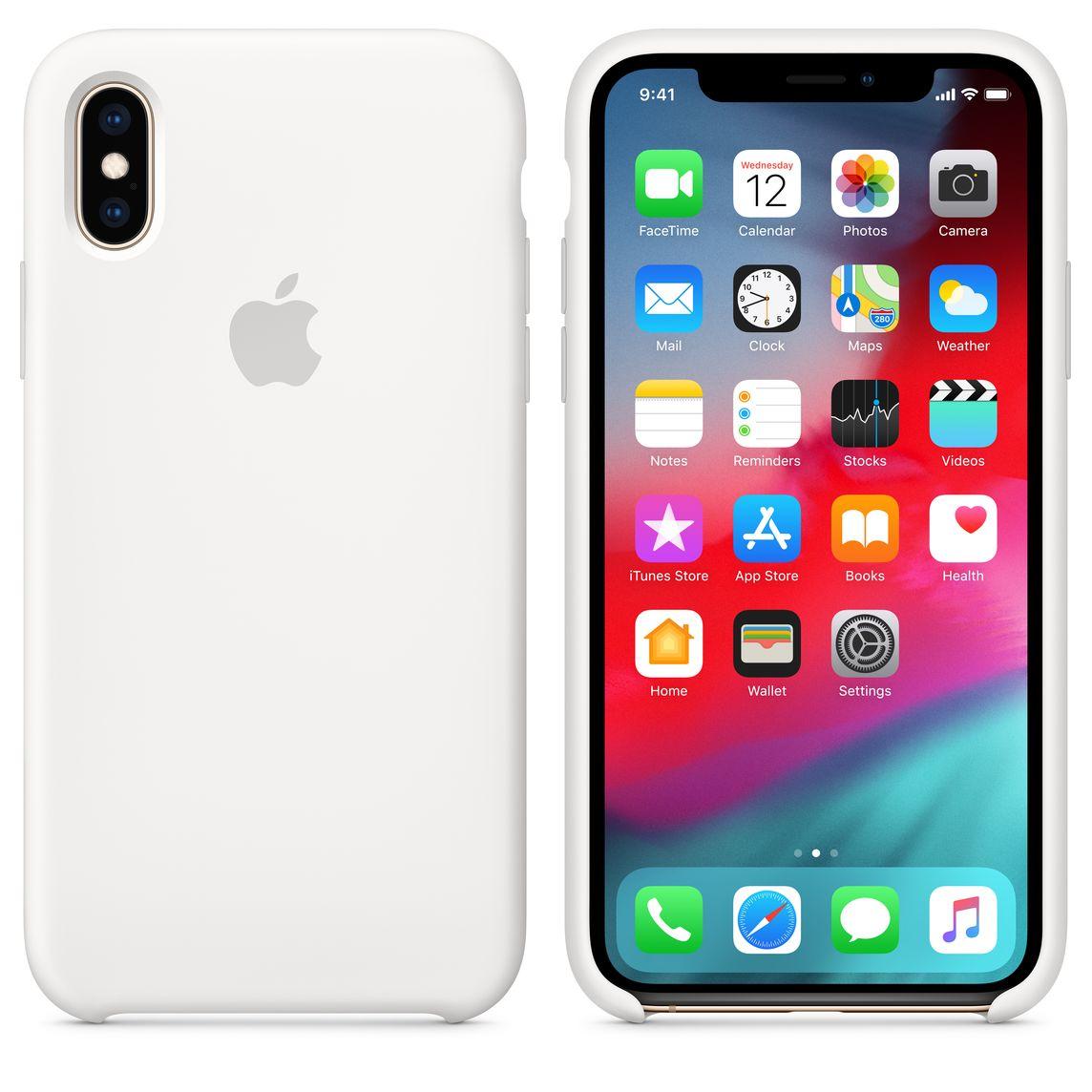 Funda case silicona para iphone x xs en caja colores tienda en