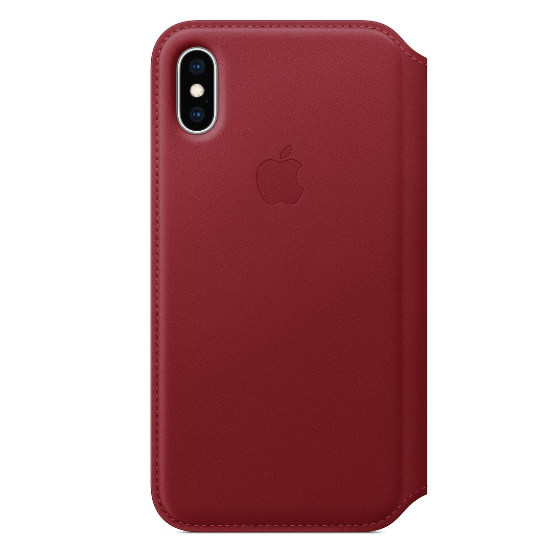 new concept e3874 a61ca iPhone XS Leather Folio - (PRODUCT)RED