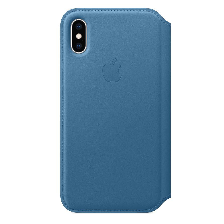 Custodia Apple Folio In Pelle Per iPhone X - Blu Cosmo - I.T.